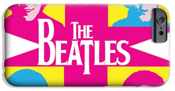 Digital Artwork iPhone Cases - Beatles Vinil Cover Colors Project No.01 iPhone Case by Caio Caldas
