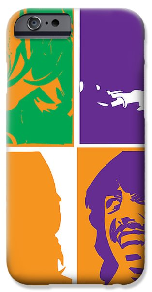 Beatles Vinil Cover Colors Project No.02 iPhone Case by Caio Caldas