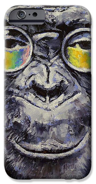 John Lennon Paintings iPhone Cases - Beatnik iPhone Case by Michael Creese