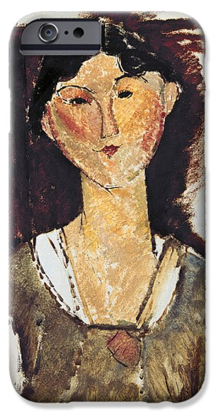 Twentieth Century iPhone Cases - Beatrice Hastings iPhone Case by Amedeo Modigliani