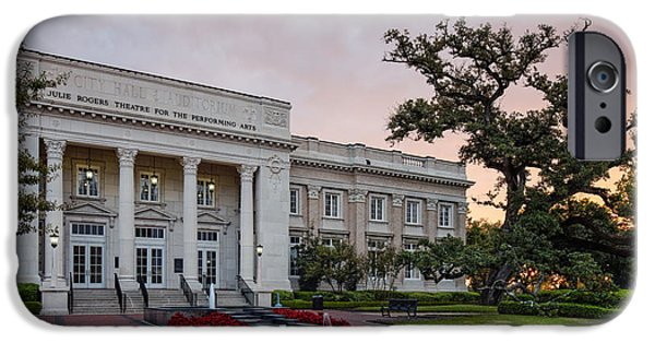 Symphony Hall iPhone Cases - Beaumont City Hall at Sunrise - East Texas iPhone Case by Silvio Ligutti