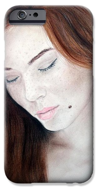 Beautiful and Sexy Actress Jeananne Goossen iPhone Case by Jim Fitzpatrick