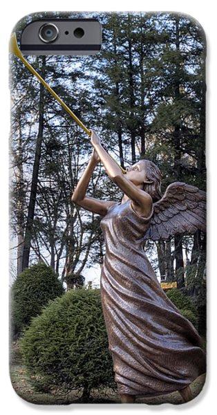 Beautiful Angel iPhone Case by Gene Walls