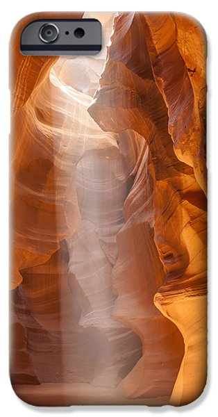 Park Scene iPhone Cases - Beautiful Antelope Canyon iPhone Case by Melanie Viola