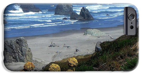 Lighthouse iPhone Cases - Beautiful Bandon Oregon Beach iPhone Case by De Ann  Troen