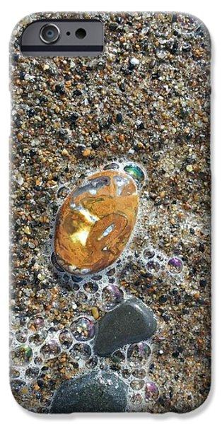 Agate Beach Oregon iPhone Cases - Beautiful Beach Agate iPhone Case by Laura Joki