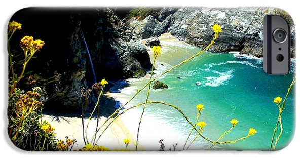 Picture Of Big Sur Beach iPhone Cases - Beautiful Big Sur iPhone Case by Marin Packer