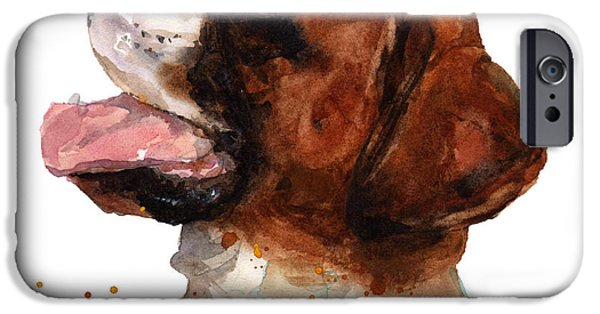 Boxer Dog iPhone Cases - Beautiful Boxer iPhone Case by Alison Fennell