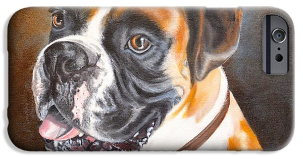 Boxer iPhone Cases - Beautiful Boxer iPhone Case by Judith Killgore
