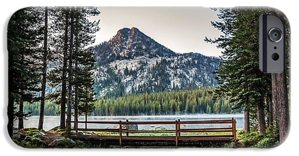 Haybale iPhone Cases - Beautiful Bridge View iPhone Case by Robert Bales