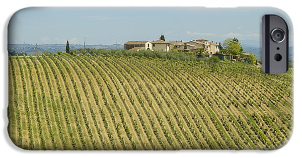 Chianti Landscape iPhone Cases - Beautiful Chianti region in Tuscany iPhone Case by Patricia Hofmeester