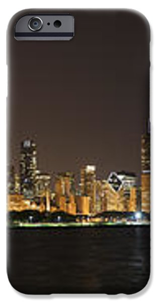Beautiful Chicago Skyline with Fireworks iPhone Case by Adam Romanowicz
