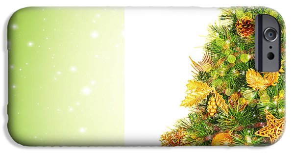 Wintertime iPhone Cases - Beautiful Christmas tree iPhone Case by Anna Omelchenko