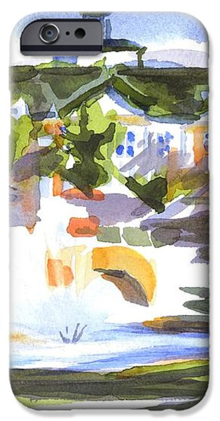 Beautiful Day at the Baptist Home of the Ozarks in Watercolor iPhone Case by Kip DeVore