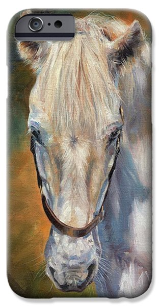 Horse Artist iPhone Cases - Beautiful Gem iPhone Case by David Stribbling