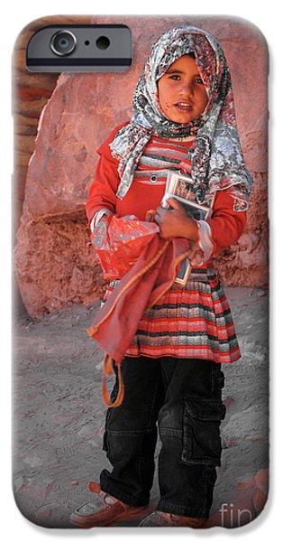 Beautiful Girl at Petra Jordan iPhone Case by Eva Kaufman