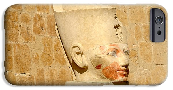 Hathor iPhone Cases - Beautiful Hatshepsut  iPhone Case by Brenda Kean