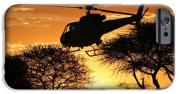 Police Art iPhone Cases - Beautiful Helicopter iPhone Case by Paul Job