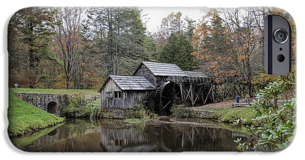 Meadow Photographs iPhone Cases - Beautiful Historical Mabry Mill iPhone Case by Kathy Clark