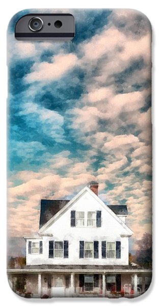 Home Photographs iPhone Cases - Beautiful Home Rye New Hampshire iPhone Case by Edward Fielding