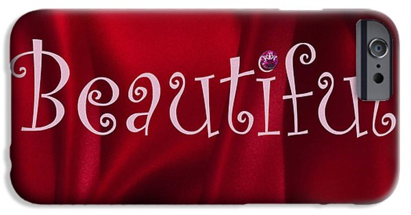 Multimedia iPhone Cases - Beautiful In Red iPhone Case by Tina M Wenger