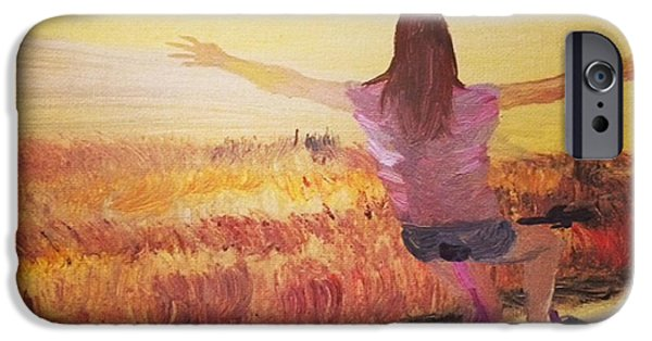 Painter Photo Paintings iPhone Cases - Bike  by Janelle Dey iPhone Case by Janelle Dey