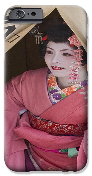 Kyoto iPhone Cases - Beautiful Japanese Woman iPhone Case by Juli Scalzi