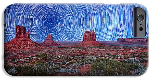 Nation Pyrography iPhone Cases - Beautiful Monument Valley Landscape iPhone Case by Katrina Brown