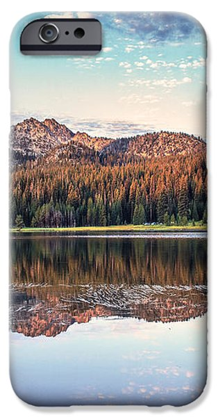 Beautiful Mountain Reflection iPhone Case by Robert Bales