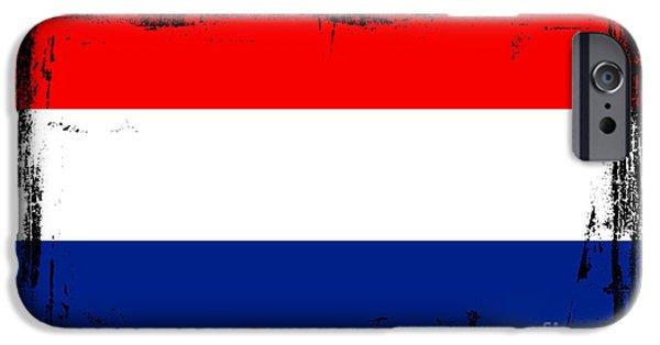 Limburg iPhone Cases - Beautiful Netherlands Flag iPhone Case by Pamela Johnson