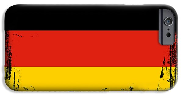 Map Of Germany iPhone Cases - Beautiful Germany Flag iPhone Case by Pamela Johnson