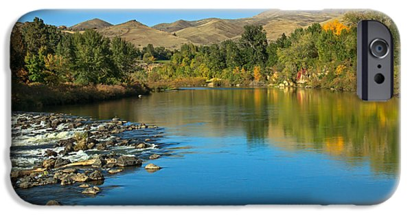 Haybale iPhone Cases - Beautiful Payette River iPhone Case by Robert Bales