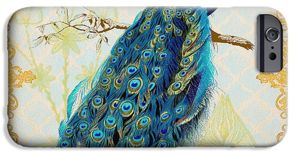 Filigree iPhone Cases - Beautiful Peacock-A iPhone Case by Jean Plout