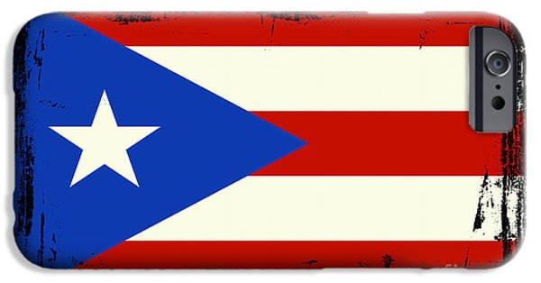 Recently Sold -  - Abstract Digital Mixed Media iPhone Cases - Beautiful Puerto Rico Flag iPhone Case by Pamela Johnson
