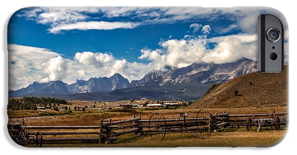 Haybale iPhone Cases - Beautiful Sawtooth Range iPhone Case by Robert Bales