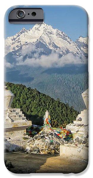 Beautiful Snow Mountain - Meili Xue Shan iPhone Case by James Wheeler