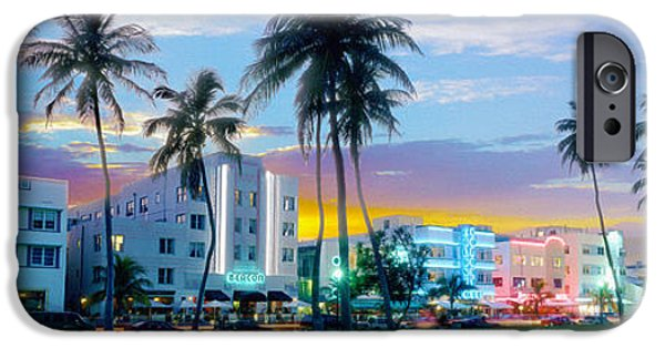 Skylines Mixed Media iPhone Cases - Beautiful South Beach iPhone Case by Jon Neidert