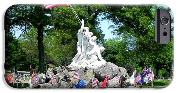 American Flag iPhone Cases - Beautiful Statue iPhone Case by Brian Mooney