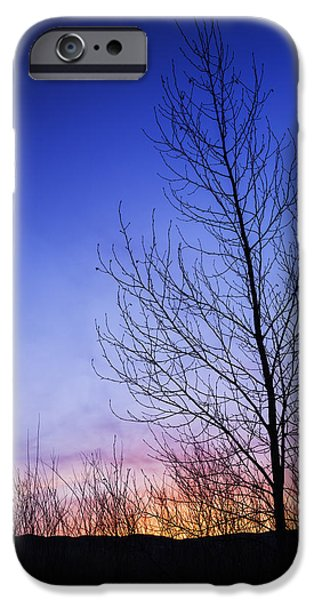 Simple Beauty In Colors iPhone Cases - Beautiful sunrise in Boise Idaho USA iPhone Case by Vishwanath Bhat
