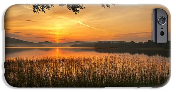 Sunset In Norway iPhone Cases - Beautiful View  iPhone Case by Rose-Maries Pictures