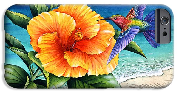 Flying Animals iPhone Cases - Beauty and Beach iPhone Case by Carolyn Steele