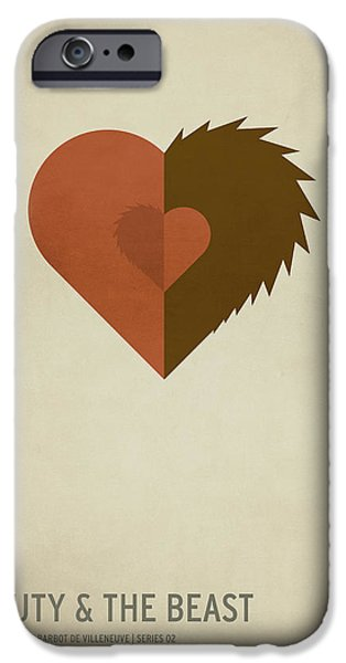 Child Digital iPhone Cases - Beauty and the Best iPhone Case by Christian Jackson