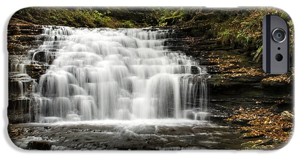 Nature Scene iPhone Cases - Beauty Falls iPhone Case by Christina Rollo