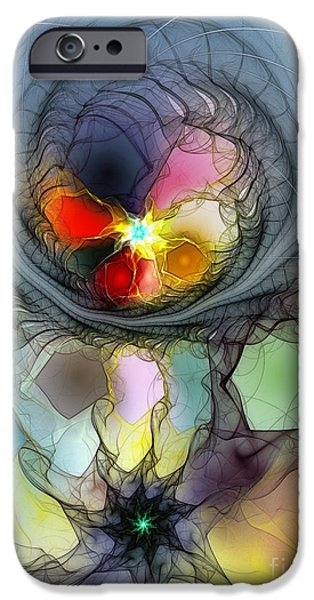 Abstract Expressionism iPhone Cases - Beauty Flourishing in Obscurity iPhone Case by Karin Kuhlmann