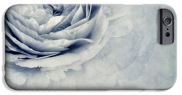 Flower Blossom iPhone Cases - Beauty In Blue iPhone Case by Priska Wettstein