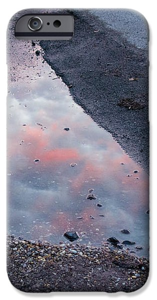 Beauty is everywhere - Sky reflected in puddle of water iPhone Case by Matthias Hauser