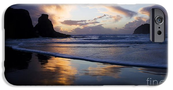 Ocean Sunset iPhone Cases - Beauty Of Oregon Bandon Beach 5 iPhone Case by Bob Christopher