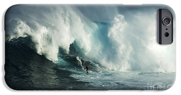 Surf Lifestyle Photographs iPhone Cases - Beauty Of Surfing Jaws Maui 6 iPhone Case by Bob Christopher