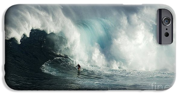 Surf Lifestyle Photographs iPhone Cases - Beauty Of Surfing Jaws Maui 7 iPhone Case by Bob Christopher