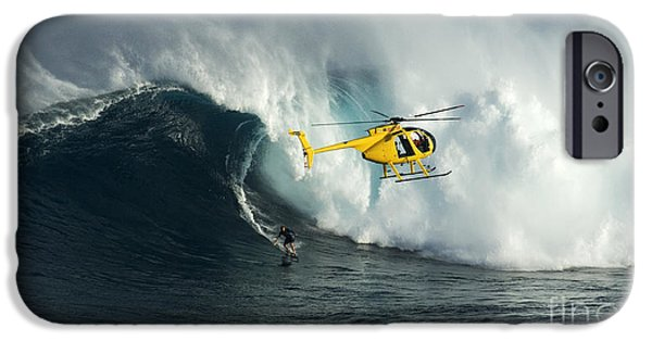 Surf Lifestyle Photographs iPhone Cases - Beauty Of Surfing Jaws Maui 8 iPhone Case by Bob Christopher